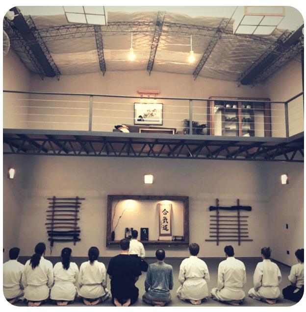 El saludo en las clases de Aikido